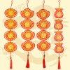 GTY-2071<BR>65公分絨面雕花流蘇吊飾