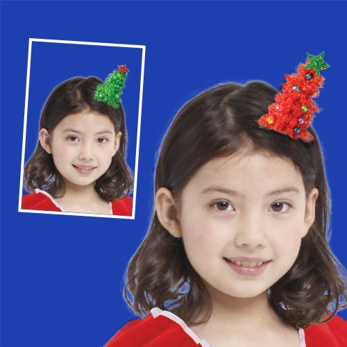 """GTX-5671<BR>4""""俏皮聖誕樹髮夾"""